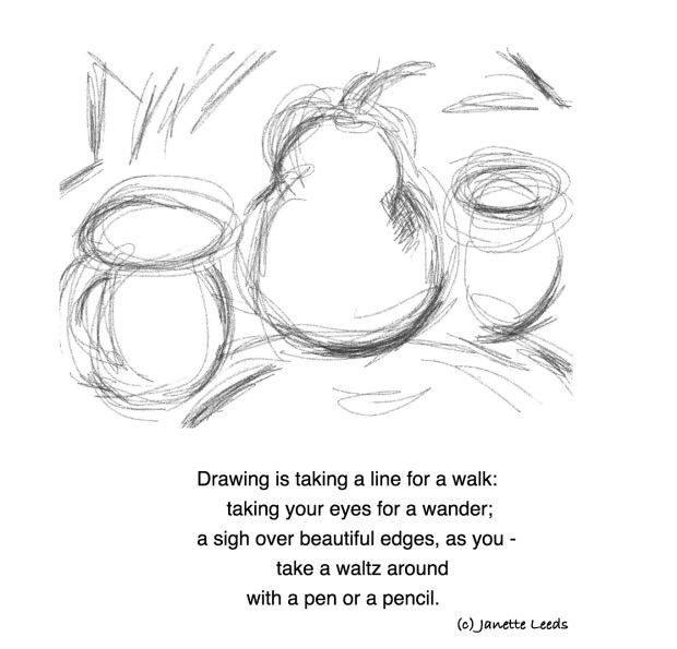 Drawing with poem