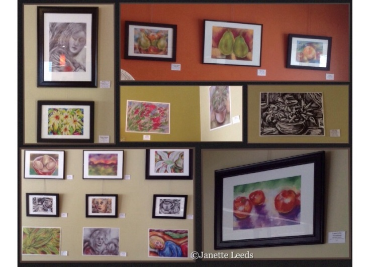 IPad art prints on the cafe wall