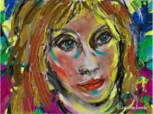 A women's face
