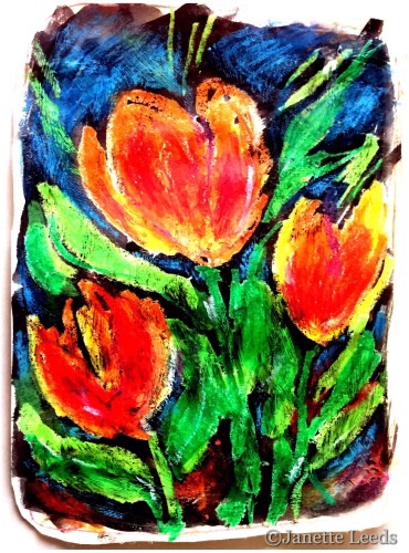 Scanned in Orange flowers