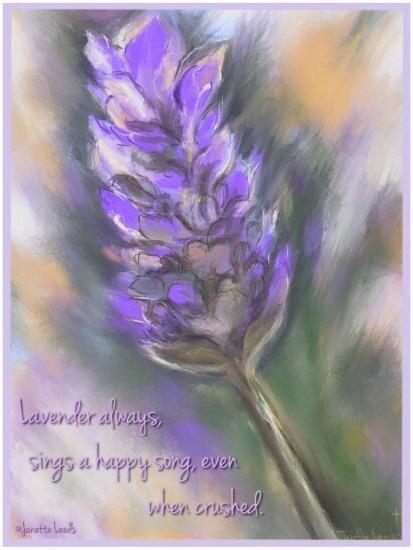 Lavender Haiga