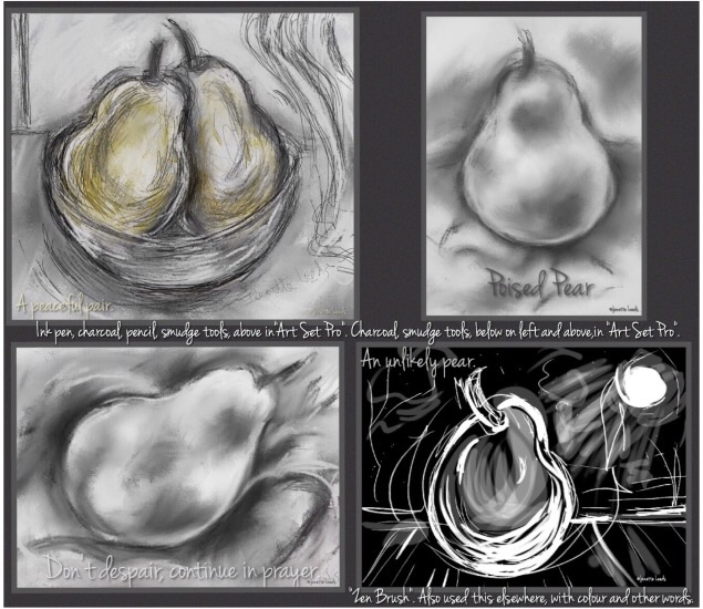 Four pear pictures