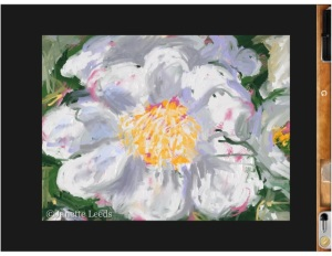 Rough flower painting