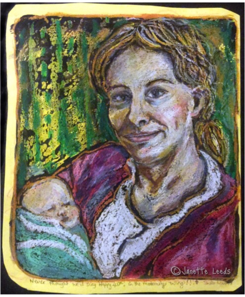 Drawing of mother and baby 3