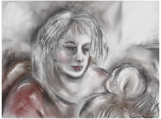 Drawing of mother and baby 4