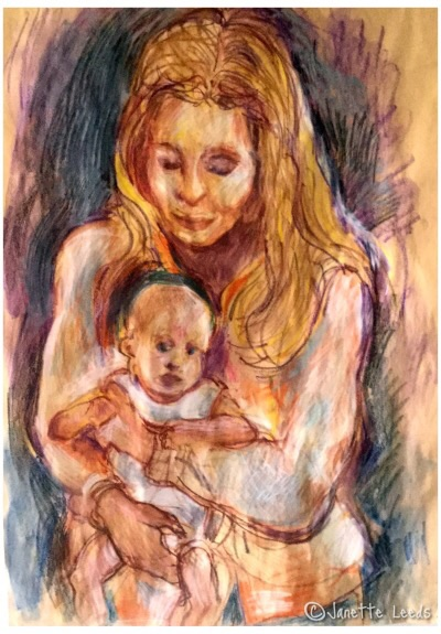 Drawing of Mother and Baby 6