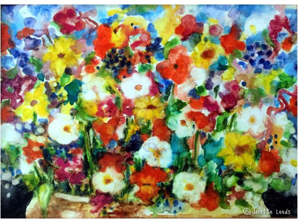 Flower painting on canvas 1