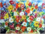 Flower painting on canvas 2