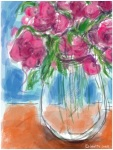 Pink flowers in a vase 3