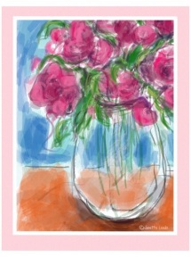 Pink flowers in a vase 4