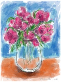 Pink flowers in a vase 2