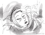 Drawing of woman sleeping