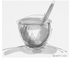 Drawing of a bowl
