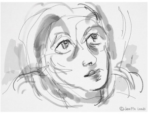 Sketch of woman's face