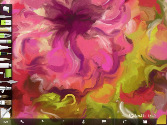 Pink flower painting 2