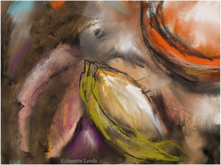 Orange bowl...an abstract