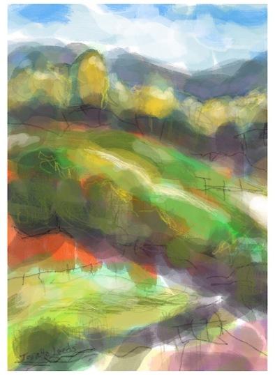 Landscape of hills
