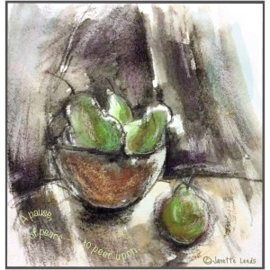 Drawing of Pears
