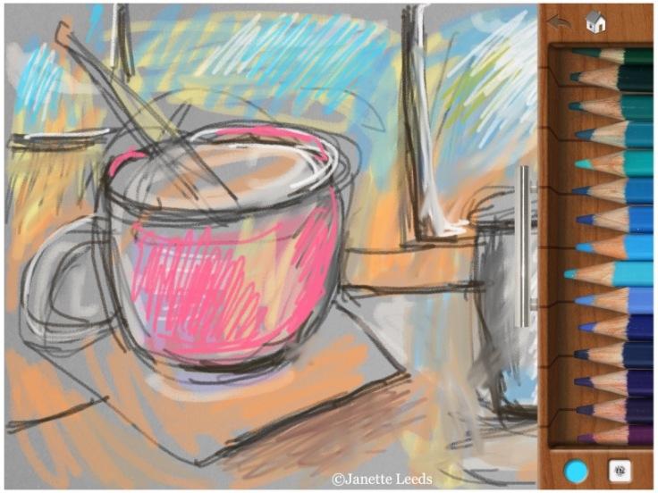 A sketch of a mug