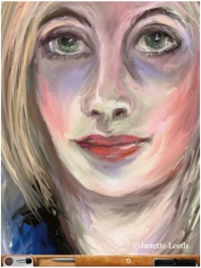 Close up of women's face