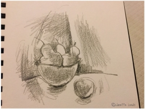 Pencil drawing of Pears
