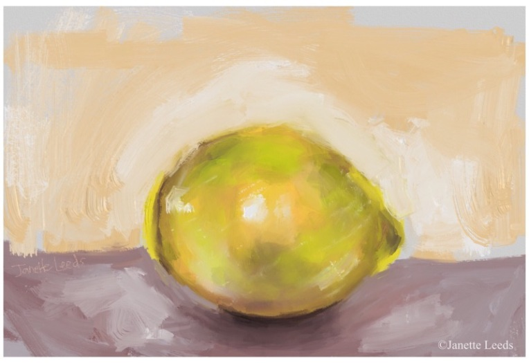Painting of a lemon
