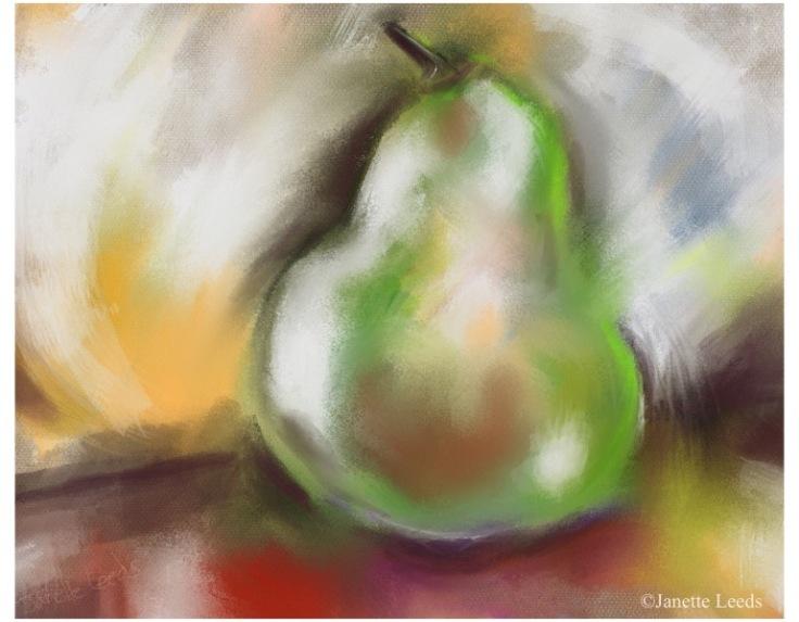 Pears in pastel