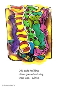 Painting of odd socks