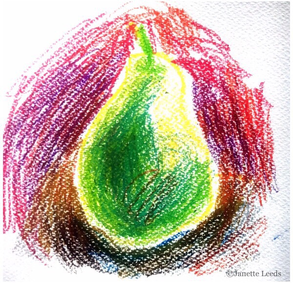 Pear drawing