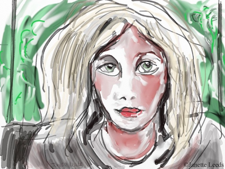 Watercolour of women's face