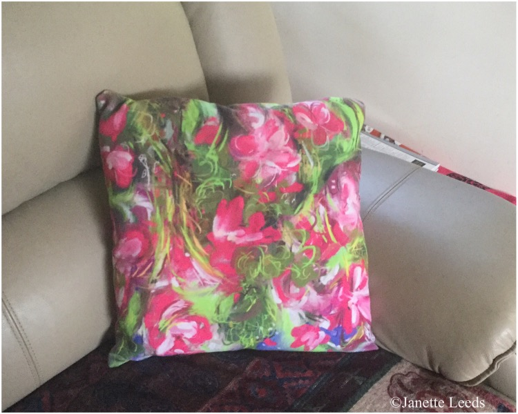 A printed cushion