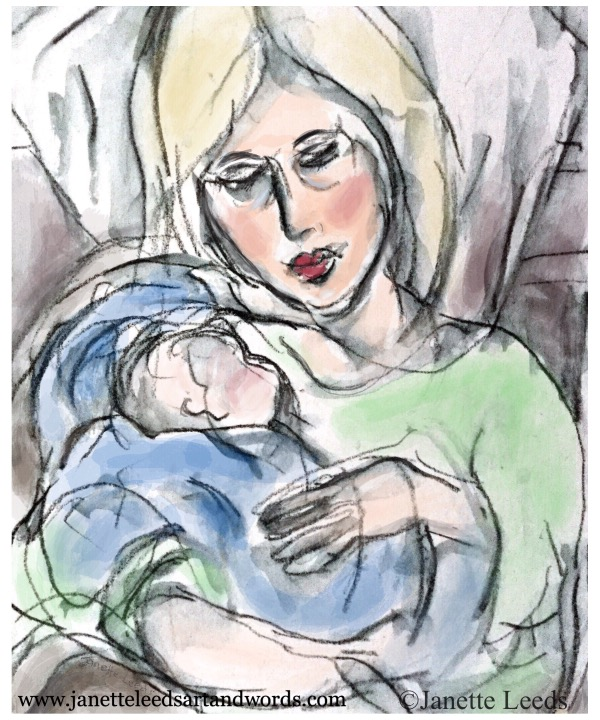 Mother and baby painting