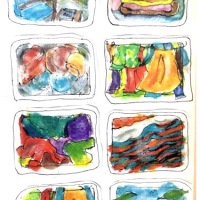 Some of My Sketches, Paintings, Linocut Prints - from Home.