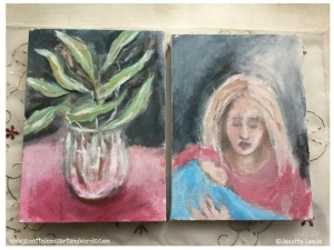 Two gouache paintings