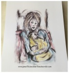 Mother and baby drawing
