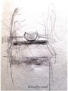 Pencil still life drawing