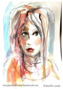 Watercolour of a woman