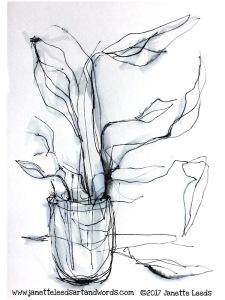 Fineliner pen drawing