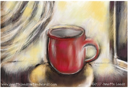 Drawing of a red cup