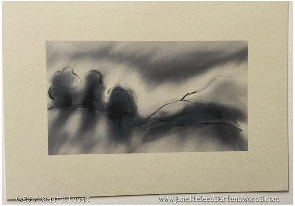 Landscape painting print
