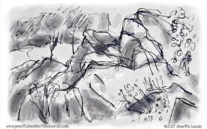 Drawing of rocks
