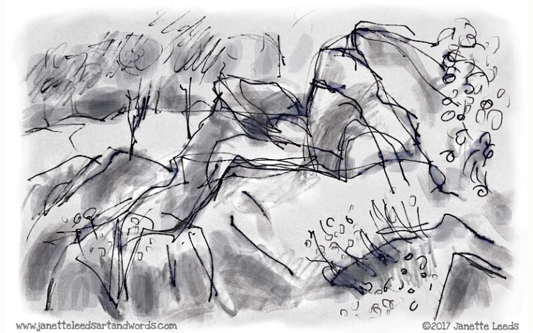 Drawing of rocks