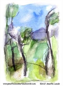 A watercolour landscape