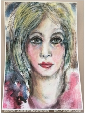 Painting of a woman's face