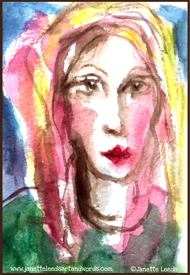 Watercolour of a woman