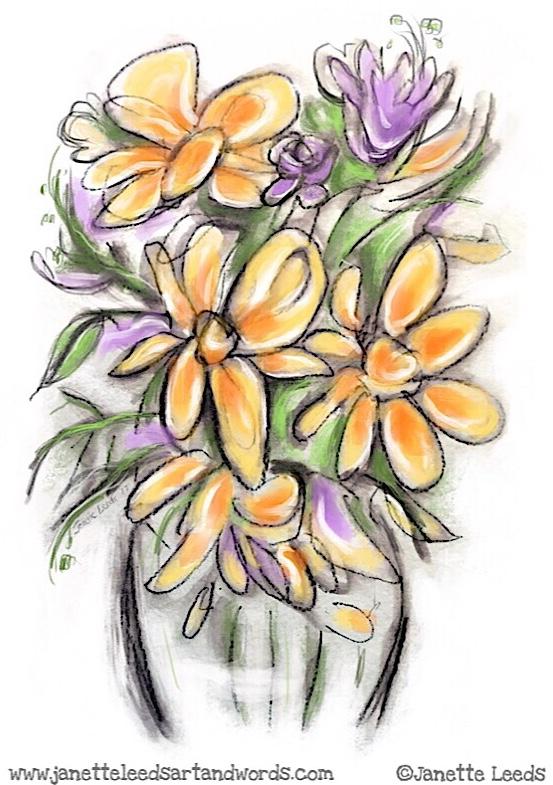 Yellow flower painting