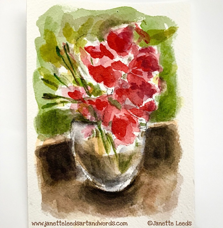 Red Flower Watercolour