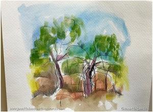 A landscape sketch