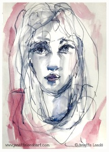 Ink pen and wash
