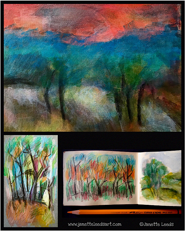 A few landscape artworks